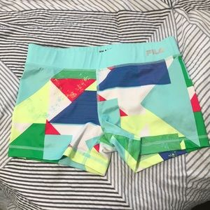 Fila Multi-Colored Running Shorts